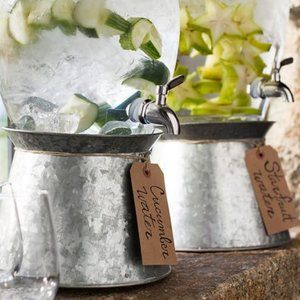 Galvanized Metal Drink Stand, Pottery Barn